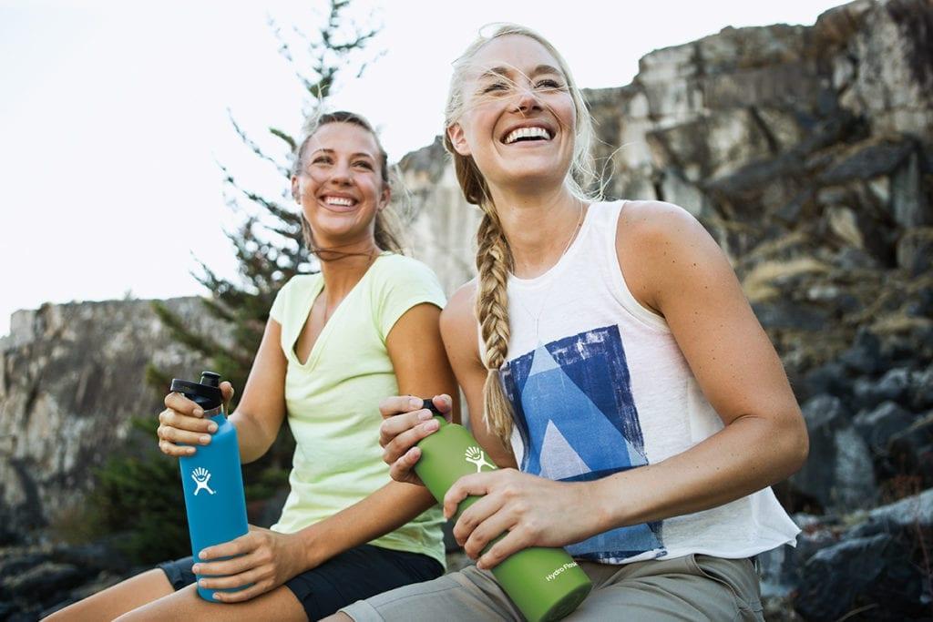 Women with Hydroflasks